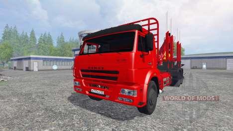 KamAZ-65117 [de madera] para Farming Simulator 2015