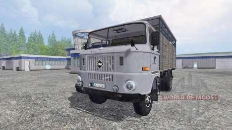 IFA W50 [transporte de animales] para Farming Simulator 2015