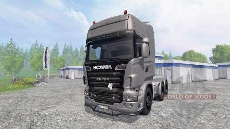 Scania R730 [Silver] v3.1 para Farming Simulator 2015