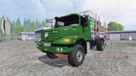 Mercedes-Benz Zetros 1833 [forest] v0.9 para Farming Simulator 2015