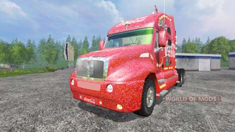 Kenworth T2000 [Coca-Cola Christmas] v1.1 para Farming Simulator 2015