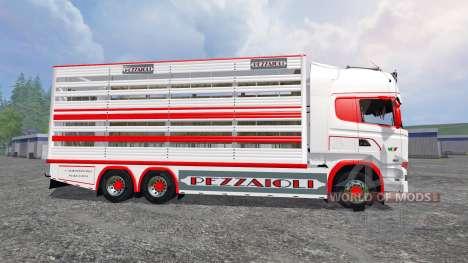 Scania R730 [cattle] v1.4 para Farming Simulator 2015