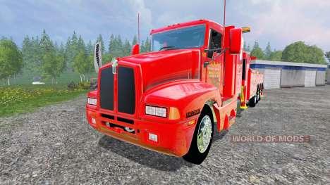 Kenworth T600B [tow truck] para Farming Simulator 2015