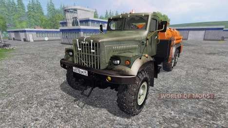 KrAZ-255 B1 6x6 [fuel] para Farming Simulator 2015