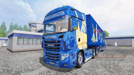 Scania R700 [Orangina] para Farming Simulator 2015