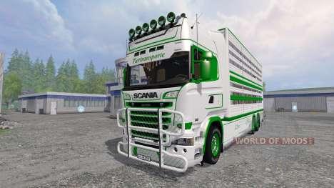 Scania R730 [cattle] para Farming Simulator 2015