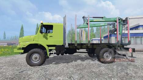 Mercedes-Benz Zetros 1833 [forest] v2.0 para Farming Simulator 2015