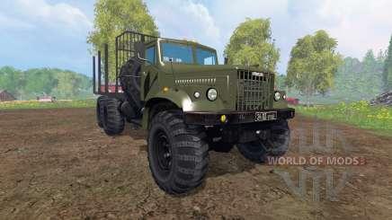 KrAZ-255 B1 [madera] v2.0 para Farming Simulator 2015
