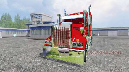 Kenworth T908 [Coca-Cola trailer] para Farming Simulator 2015