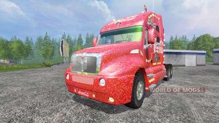 Kenworth T2000 [Coca-Cola Christmas] v1.1 para Farming Simulator 2015