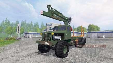 KrAZ-255 B1 [madera] v2.5 para Farming Simulator 2015