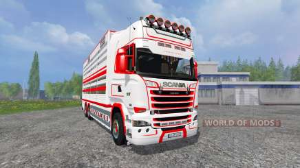 Scania R730 [cattle] v1.4 para Farming Simulator 2015