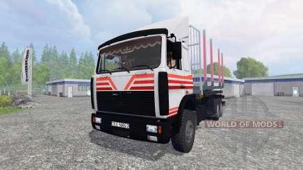 MAZ-6303 [madera] v4.0 para Farming Simulator 2015