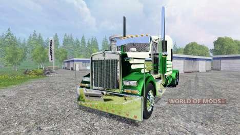 Kenworth W900L 2007 [flattop] para Farming Simulator 2015