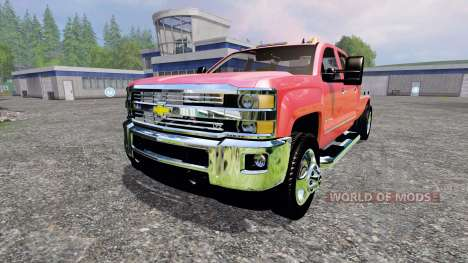 Chevrolet Silverado 3500 [flatbed] v3.0 para Farming Simulator 2015