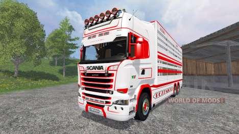 Scania R730 [cattle] v1.5 para Farming Simulator 2015