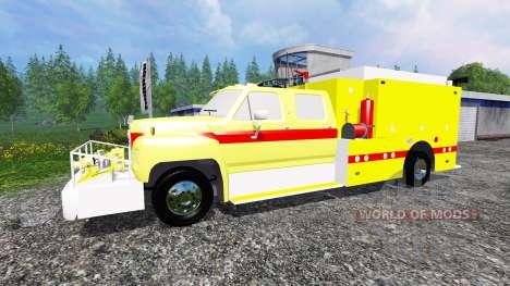 Ford F-800 [fire truck] para Farming Simulator 2015