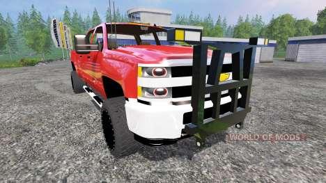 Chevrolet Silverado 3500 [plow truck] para Farming Simulator 2015