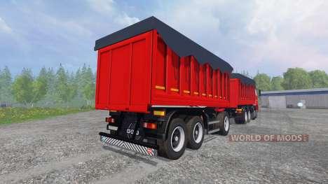 El KamAZ-65802 8x4 v2.0 para Farming Simulator 2015