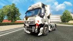 La piel Ejército de los estados unidos de Nieve en un camión Volvo para Euro Truck Simulator 2