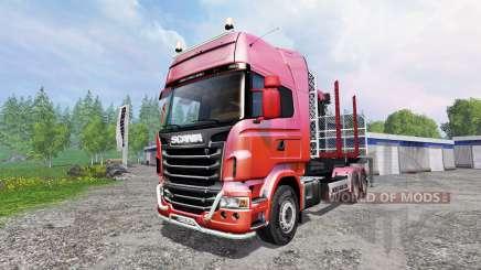 Scania R730 [forest] v1.2 para Farming Simulator 2015