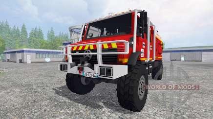Mercedes-Benz Unimog [fire service] para Farming Simulator 2015