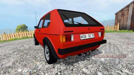 Volkswagen Golf I GTI 1976 v1.1 para Farming Simulator 2015