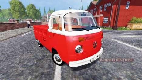 Volkswagen Transporter T2B 1972 [Bully] para Farming Simulator 2015