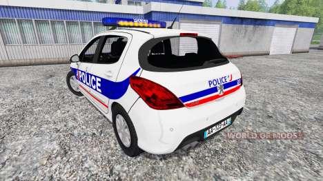 Peugeot 308 Police France para Farming Simulator 2015