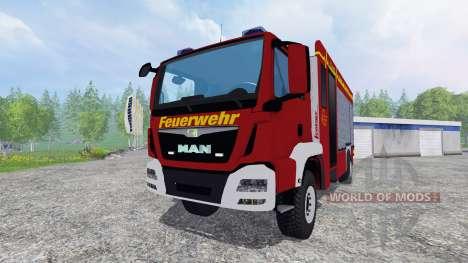 MAN TGM 14.250 Firetruck [blaulicht] para Farming Simulator 2015