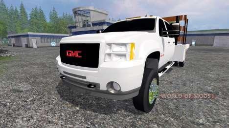 GMC Sierra 3500 [flatbed] v2.0 para Farming Simulator 2015