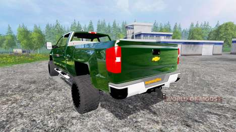 Chevrolet Silverado 3500 [plow truck] v2.0 para Farming Simulator 2015
