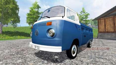Volkswagen Transporter T2B 1972 v1.1 para Farming Simulator 2015