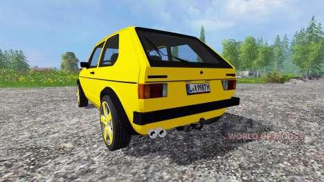 Volkswagen Golf I GTI [tuning] para Farming Simulator 2015