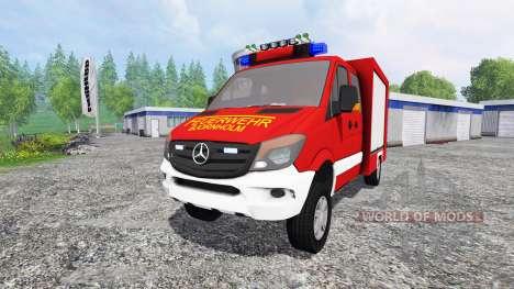 Mercedes-Benz Sprinter 316 [feuerwehr] v2.0 para Farming Simulator 2015