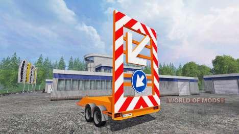 La señal de remolque de la cubierta para Farming Simulator 2015