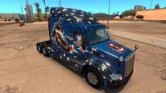 El capitán América de la piel para el camión Peterbilt 579 para American Truck Simulator