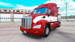 Rojo-blanco de la piel para el camión Peterbilt para American Truck Simulator