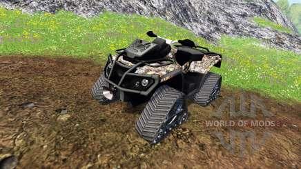 Can-Am Outlander 1000 XT [quadtrac camo] para Farming Simulator 2015