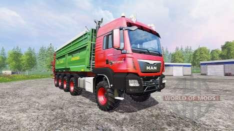 MAN TGS 10x8 [manure] para Farming Simulator 2015