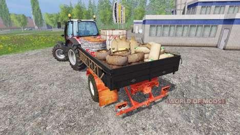 Uniaxial de servicio del remolque para Farming Simulator 2015