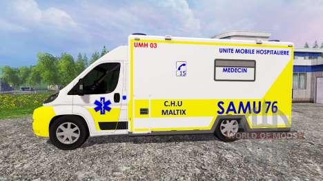 Peugeot Boxer SAMU para Farming Simulator 2015