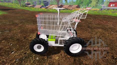 Manual de carrito de supermercado para Farming Simulator 2015