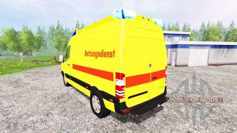 Mercedes-Benz Sprinter Ambulance para Farming Simulator 2015