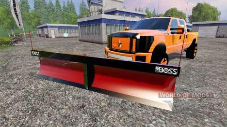 Ford F-250 [V-plow] para Farming Simulator 2015