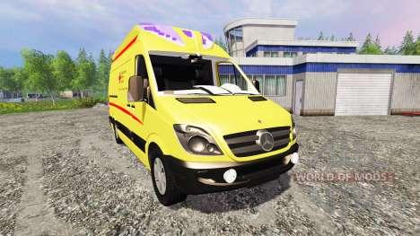 Mercedes-Benz Sprinter Ambulance v2.0 para Farming Simulator 2015