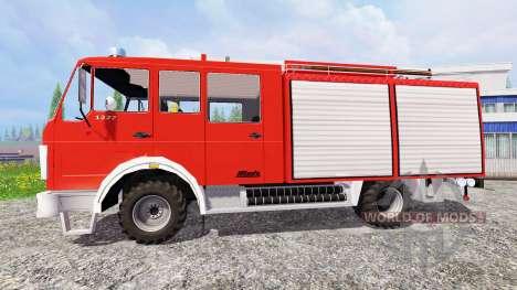 Mercedes-Benz 1222 [feuerwehr] para Farming Simulator 2015