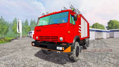 KamAZ-43114 [de protección contra incendios] para Farming Simulator 2015