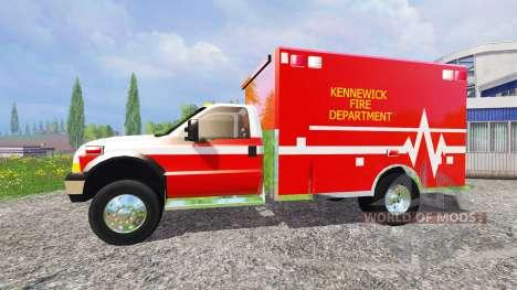Ford F-350 [fire department] para Farming Simulator 2015
