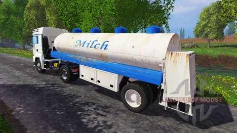 Cisterna de leche semi-remolque para Farming Simulator 2015
